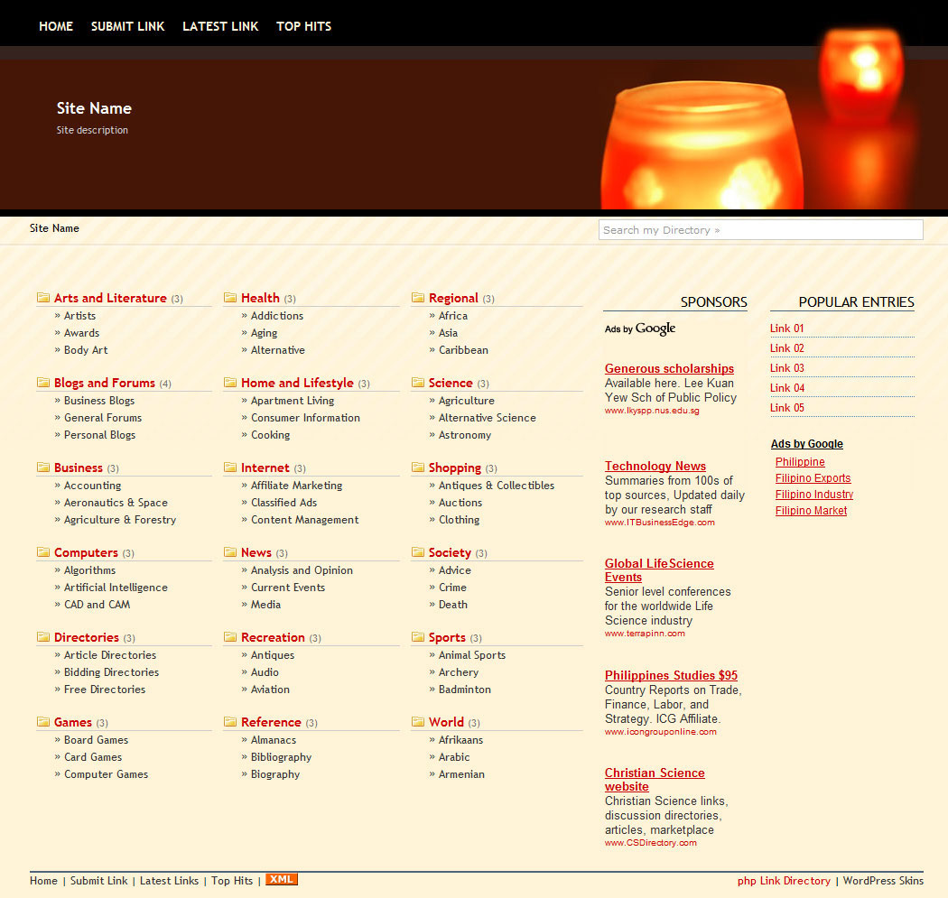 PHP Link Directory Template #3