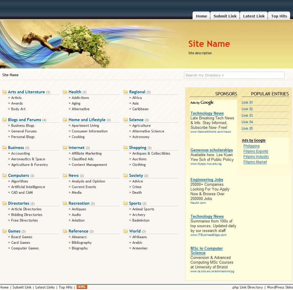PHP Link Directory Template #6