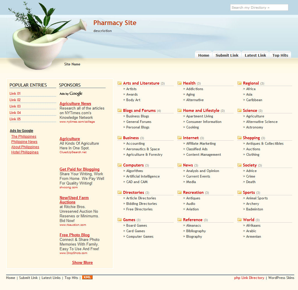 PHP Link Directory Template #8